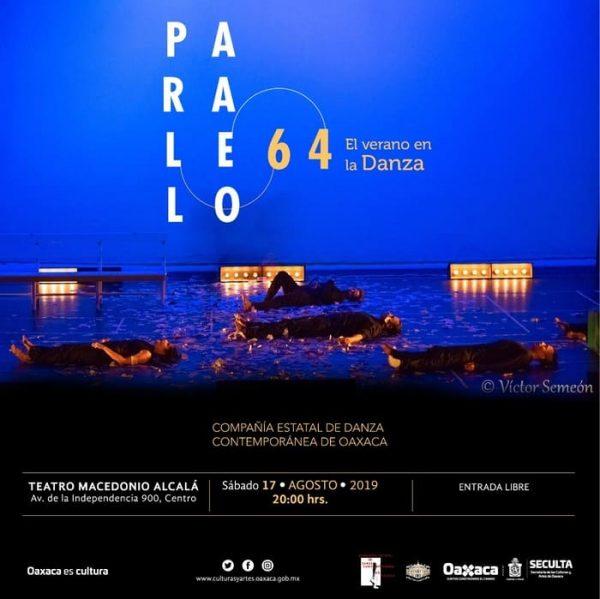 Invita Seculta a la presentación Paralelo 64, el verano en la Danza