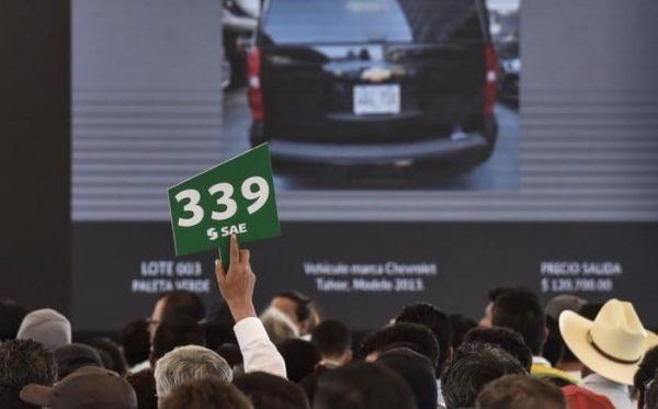 Por subasta de autos, Senado obtiene 7 millones de pesos