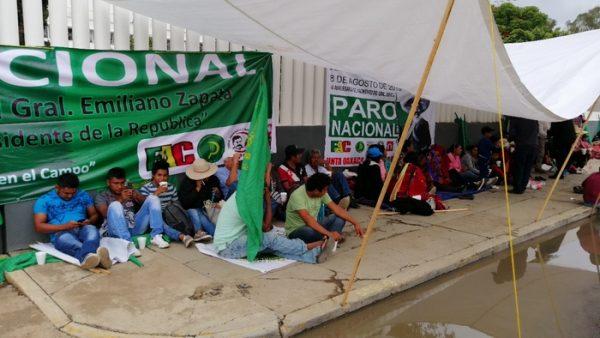Frente Auténtico del Campo en su segundo día de movilizaciones, toma instalaciones de Bienestar