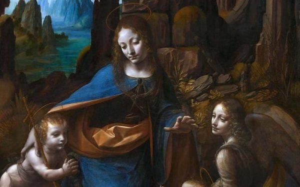 Hallan dibujo inédito debajo de una pintura famosa de Leonardo da Vinci