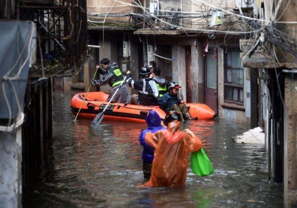 Cifra de muertos por el tifón Lekima en China sube a 32