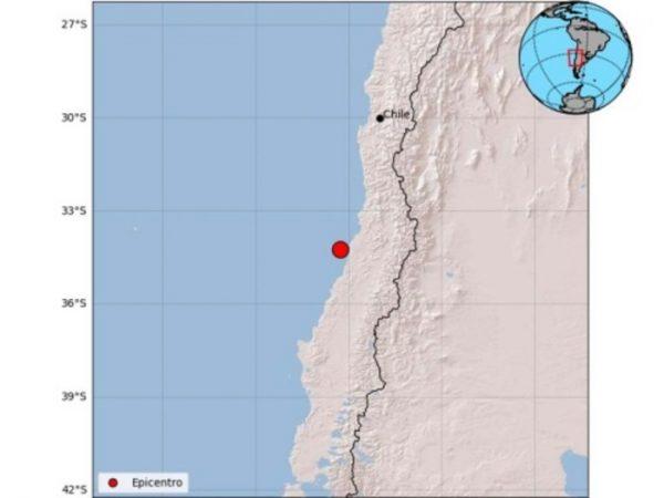 Fuerte sismo de magnitud 6.6 estremece el centro de Chile