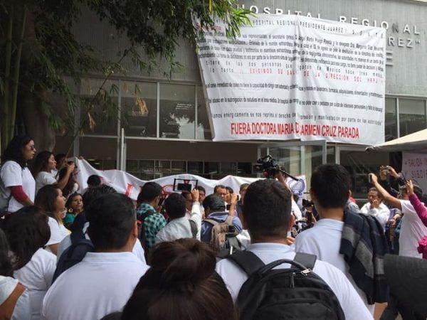 Sección 22 se suma a protesta de sindicalizados del ISSSTE