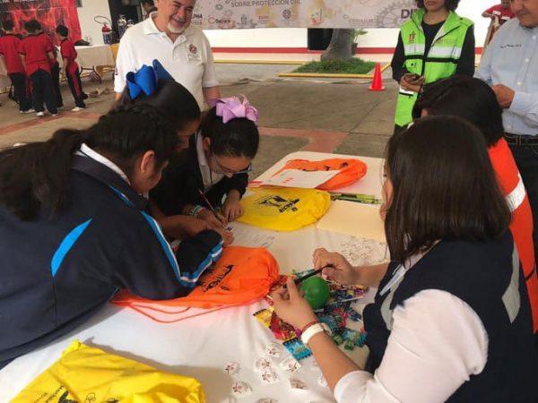 Participación activa de escolares en la   Semana Estatal de Protección Civil: IEEPO