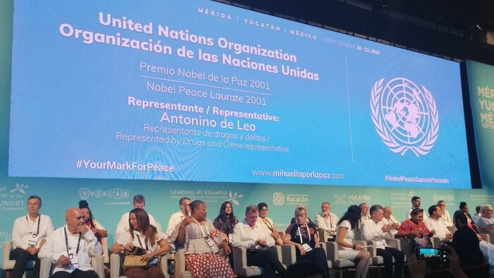 Inauguran Cumbre Mundial de los premios Nobel de la Paz en Yucatán