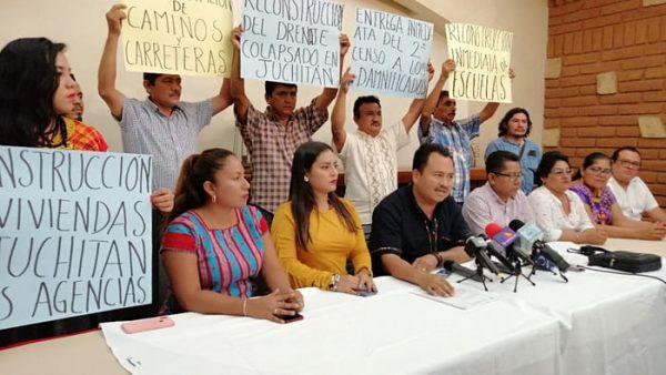Presidente de Juchitán denuncia abandono del gobierno estatal en materia de reconstrucción