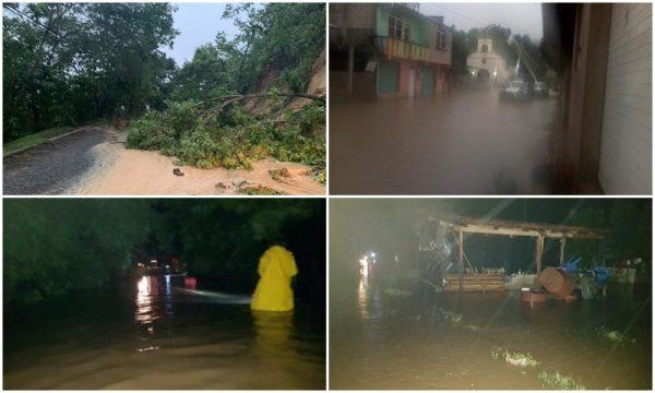 Suspenden clases en 3 municipios de Oaxaca por tormenta Narda