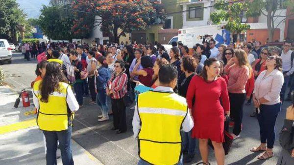 Participan ofinas del IEEPO en mega simulacro en Oaxaca