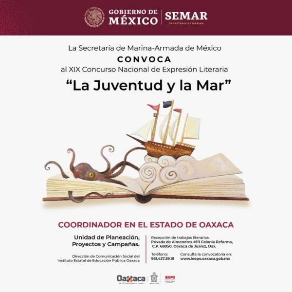 """Convocan Semar y el IEEPO al Concurso Nacional de Expresión Literaria """"La Juventud y la Mar"""""""