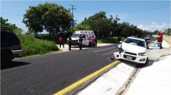 Accidente deja daños materiales en la Costa