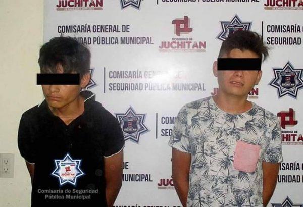 Detienen a dos por asalto en Juchitán