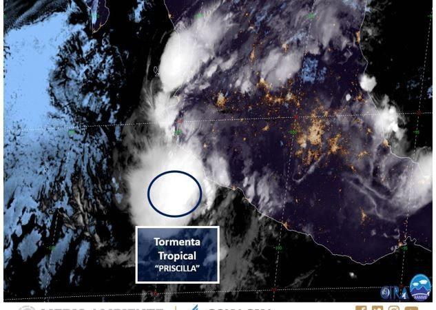 Se forma tormenta tropical 'Priscila' en el Pacífico