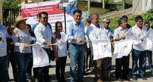 Irineo Molina y Rey Magaña arrancan obra de carretera en Cerro Armadillo Grande y Agua Pescadito
