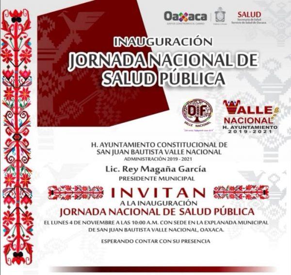 Valle Nacional será sede de la Jornada Nacional de Salud Pública
