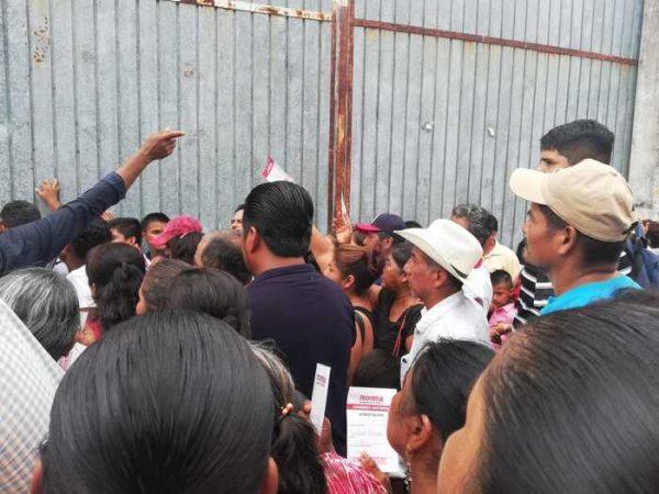 Se presentan incidentes en asamblea de MORENA en Tuxtepec