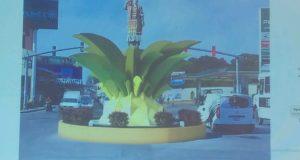 """Escultura """"Flor de Piña"""" se queda, únicamente se cambiará la base: autoridades"""