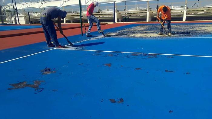Constructora de la Unidad Deportiva subsanará detalles en las canchas