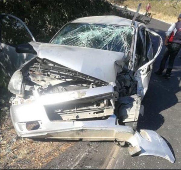 Fatal accidente en carretera a Juquila