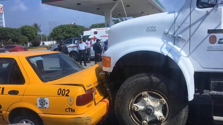 Fuerte accidente en Salina Cruz