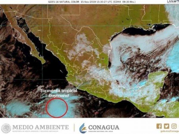Tormenta tropical 'Raymond' se forma en el Pacífico