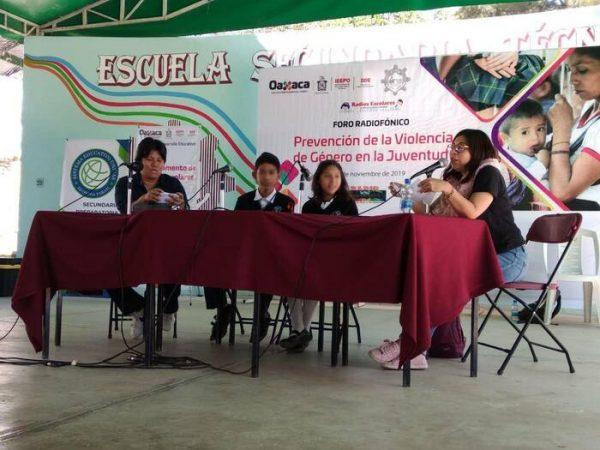 """Realiza IEEPO Primer Foro Radiofónico """"Prevención de la Violencia de Género en la Juventud"""""""