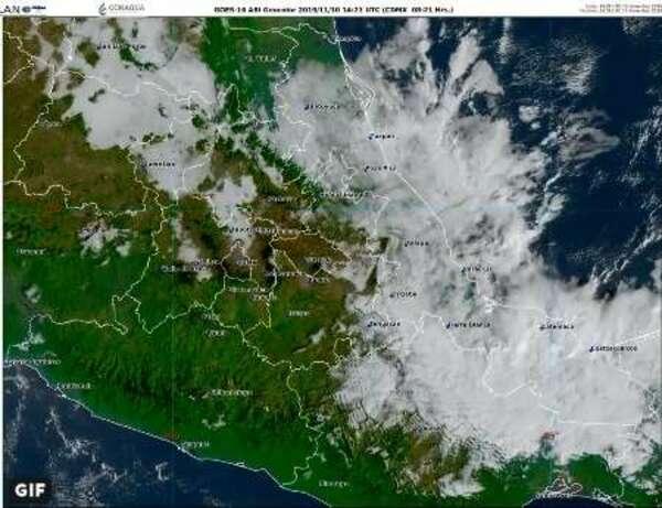 Prevén lluvias fuertes en Veracruz, Oaxaca, Chiapas y Tabasco
