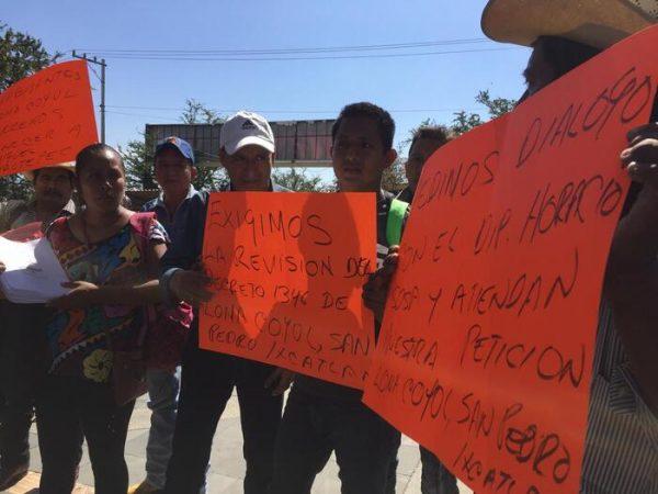 Habitantes de Loma de Coyol se niegan a pertenecer a Temascal