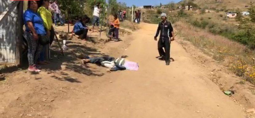 -ACTUALIZACIÓN- Enfrentamiento en Xoxocotlán; confirma fiscalía un muerto y un lesionado por arma de fuego