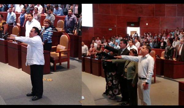Horacio Sosa y Jorge Villacaña asumen control del Congreso de Oaxaca