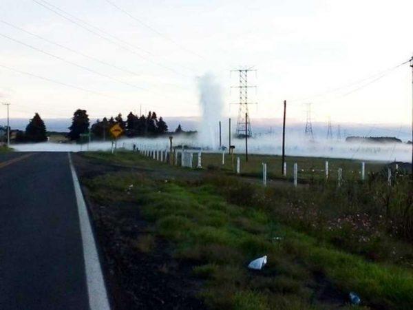 Atienden en Puebla fuga de hidrocarburo