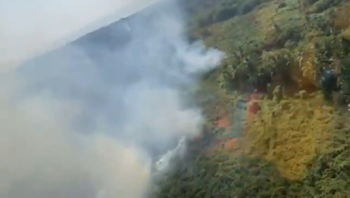 Incendio forestal en la costa de Oaxaca