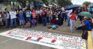Marcha Sección 22 contra informe de Alejandro Murat