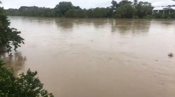 Aumenta el nivel del Río Papaloapan en Tuxtepec