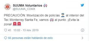 Reportan disparos al interior del Tec de Monterrey en Santa Fe