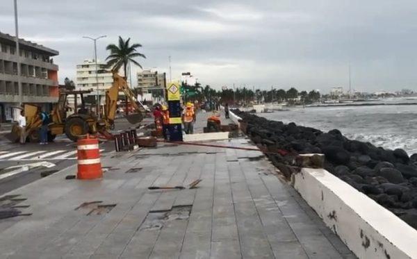 Frente frío 8 deja daños materiales y fallas eléctricas en Veracruz