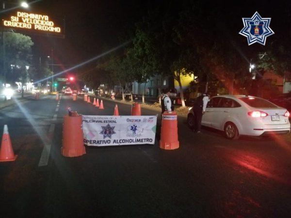 Implementa Policía Vial Estatal Operativo Alcoholímetro en el Estado