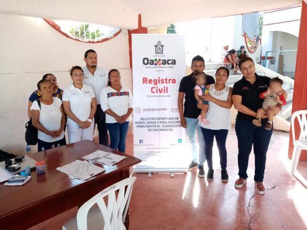 Finaliza jornada de asentamiento a menores en San Lucas Ojitlán