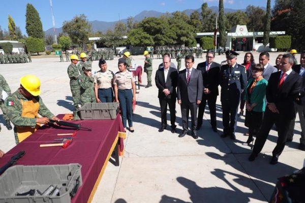 Por un Oaxaca más seguro,  destruyen 759 armas de fuego aseguradas