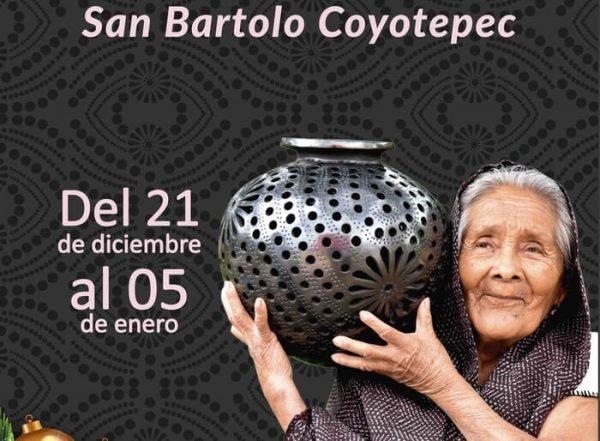 San Bartolo Coyotepec vive la temporada decembrina con Expo Feria artesanal