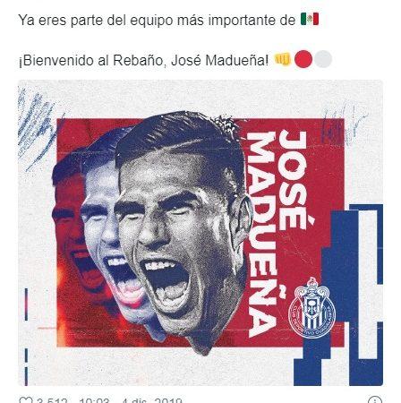 Chivas oficializa la llegada de José Madueña