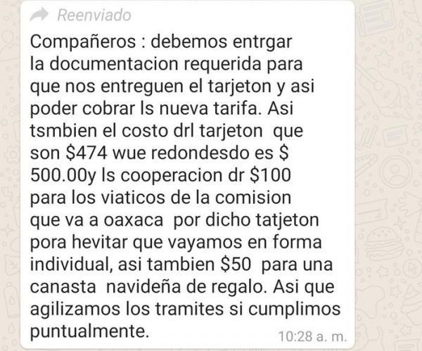 Semovi se embolsa 263 mil pesos por cobro de tarjetón