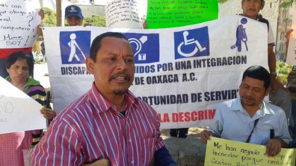Personas con discapacidad en Oaxaca, denuncian falta de entrega de apoyos Bienestar