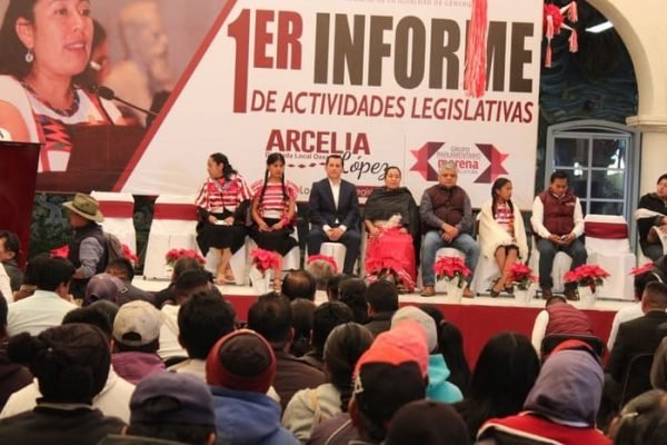 Informa diputada Arcelia López sobre su trabajo legislativo