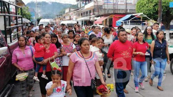 Celebran en Valle Nacional, fervor Guadalupano
