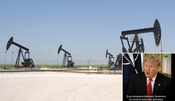 """Trump: """"Tenemos control total sobre el petróleo que pretendía el Estado Islámico en Siria y podemos hacer con él lo que queramos"""""""