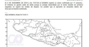 Sin daños en Oaxaca por sismo de 5.1 de magnitud