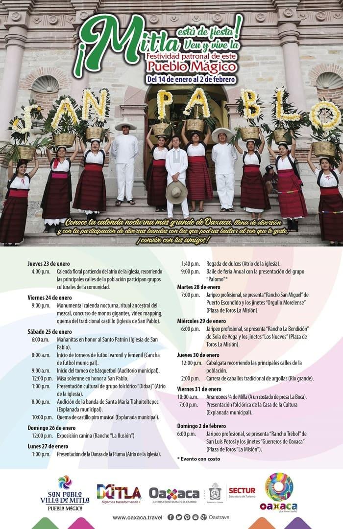 SECTUR- Mitla- fiesta patronal