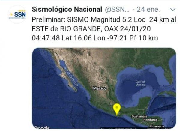 Sin daños por sismo en Costa de Oaxaca: CEPCO