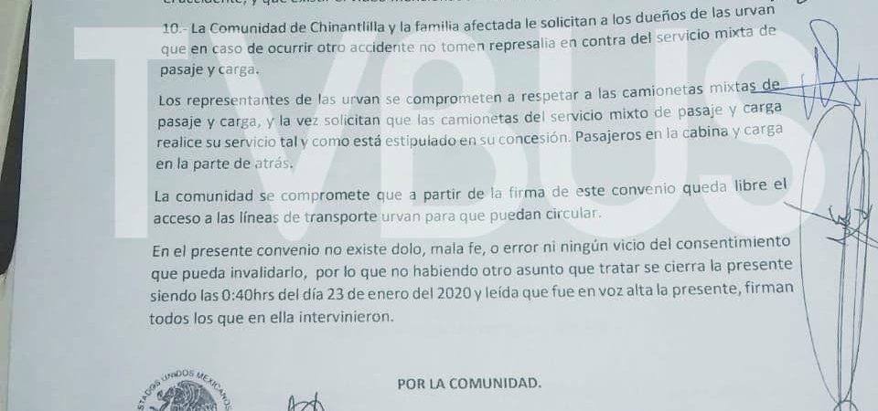 Tras acuerdos, ya circulan urvans en Valle Nacional