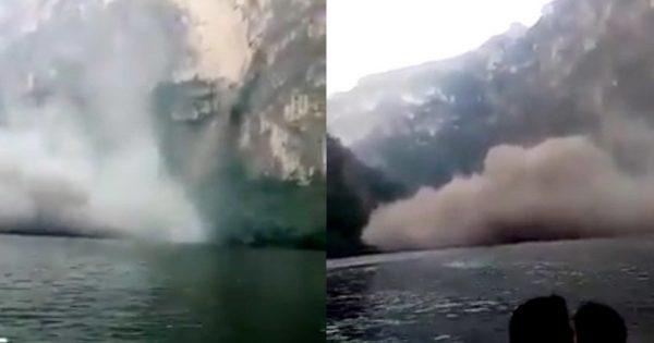 Una pared del Cañón del Sumidero se derrumba frente a turistas; PC ya trabaja en la zona